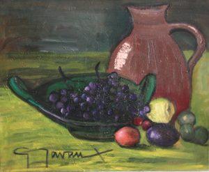"""Les raisins"", huile s/ toile"