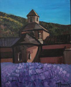 """""""Abbaye de Senanque"""", huile s/toile"""