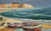 """""""plage À Hamamet"""", 2014, 55X90 Cm"""