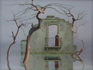 """""""LA MÉLANCOLIE"""",(détail) 2007 huiles/toile,46X 61cm"""