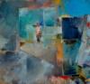 """""""Soleil Noir"""", 130X140Cm, Acrylique Sur Toile"""