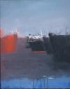 """Markantonakis, """"Rade Orange"""", 120X170 Huile Photo Sur Bois 2012"""