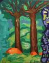 Les Forêts Détruites, H S/Toile, 100X80Cm