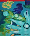 La Main Et Le Dinosaure, 60X50 Cm