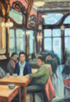 Café Majestic, 80 X 55, 2017