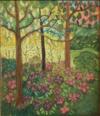 Dans Le Sous-Bois Fleuri, Les Oiseaux Regardent Le Soleil Se Coucher