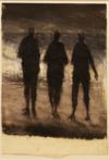 Promenade Au Crépuscule, Wandelaars In De Avondzon, 36X29