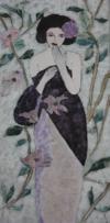Femme Au Jardin, 120 X 60 Cm